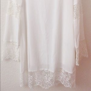 Lulu's Dresses - White dress with bell sleeves